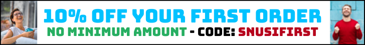 10% öff your first order with the code snusifirst